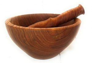 Mortero madera natural
